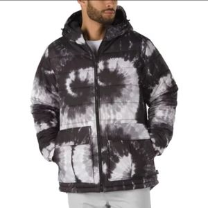 Vans Tie Dye Mens Black And White Snowbaord Jacket